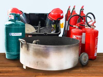 Kit noleggio attrezzatura antincendio - vasca piccola